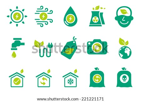 Eco friendly icons - Illustration - stock vector