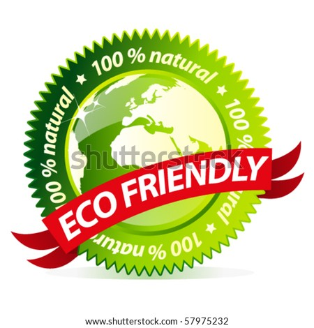Eco friendly natural sign - stock vector