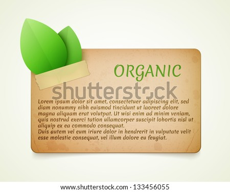 eco friendly paper template banner eps10 - stock vector