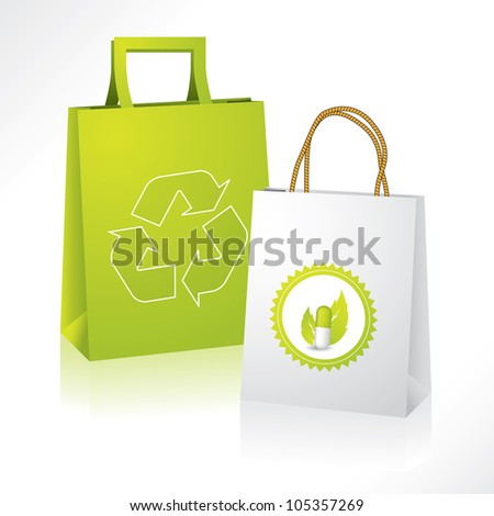 Eco friendly paperbag with bio medical paperbag