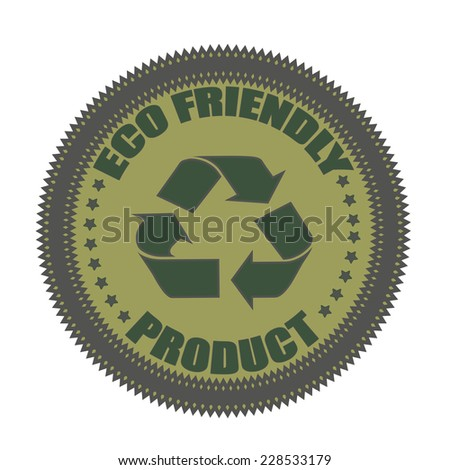 eco friendly product grunge stamp with on vector illustration - stock vector