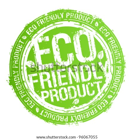 Eco friendly product rubber stamp. - stock vector