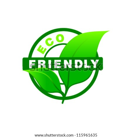 eco friendly stamp - stock vector