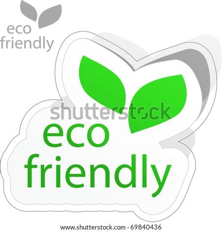Eco friendly sticker. - stock vector