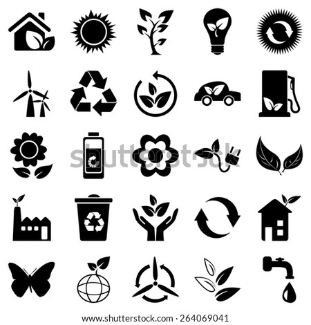 Eco friendly symbol recycle sign set stock vector 264069041 eco friendly symbol recycle sign set collection pack cheapraybanclubmaster Choice Image