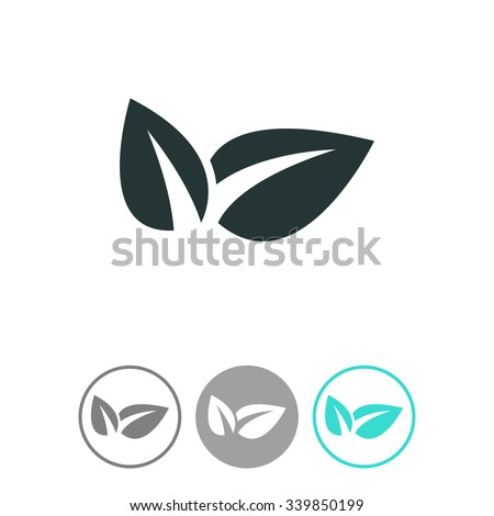 Eco friendly vector icon. Ecological symbol. - stock vector