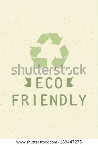 eco friendly vector poster design template/ layout design/ background - stock vector