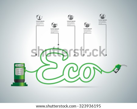 Eco fuel concept, Vector illustration modern design template - stock vector