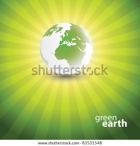 Eco Globe Design - stock vector