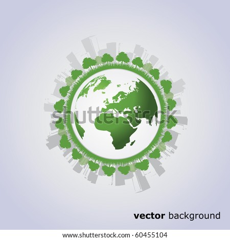 Eco Globe Vector - stock vector
