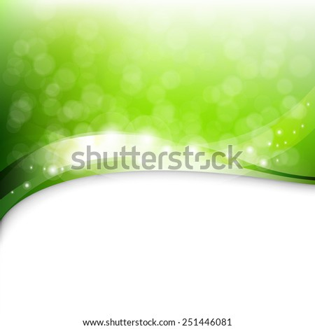 Eco Green Background With Gradient Mesh, Vector Illustration - stock vector