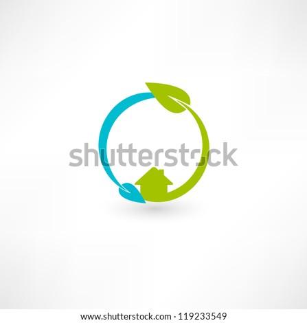 Eco green energy - stock vector