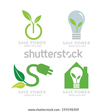 Eco green leaf . Ecology green icon. - stock vector
