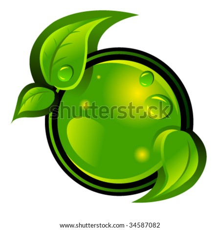 eco green vector icon - stock vector