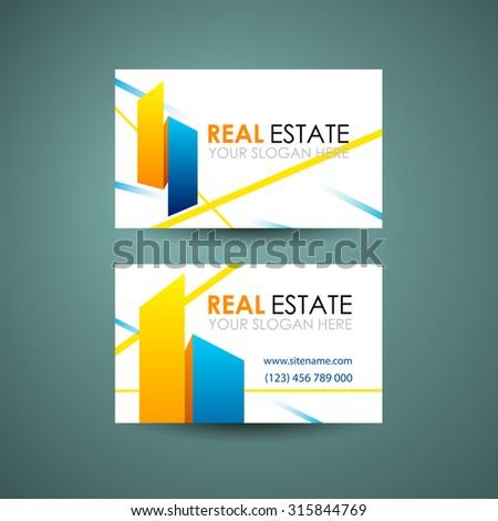 Vector Abstract Creative Business Card Stock Vector 331946318 ...
