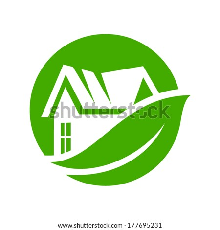 Eco house Branding Identity Corporate vector logo design template Isolated on a white background - stock vector