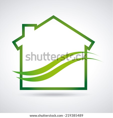eco house graphic design , vector illustration