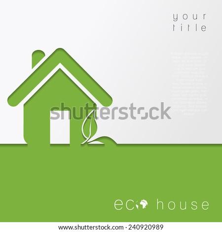 Eco House. Vector Concept - stock vector