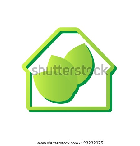 Eco House. Vector Icon.