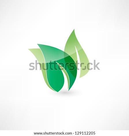 Eco icon - stock vector