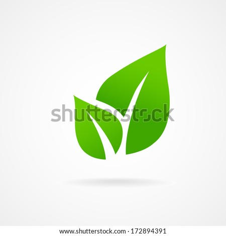 Leaf Icon Eco Icon Green Leaf Vector