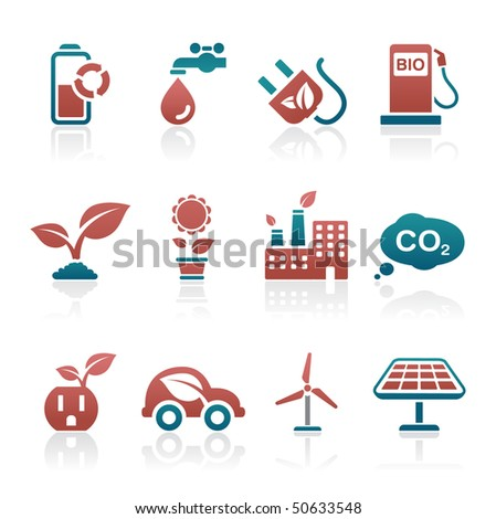 Eco Icon set - stock vector