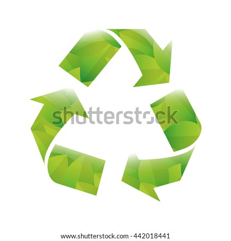 eco icon. Think green concept. Vector graphic