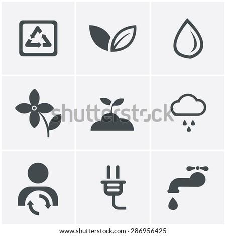 Eco icons - stock vector