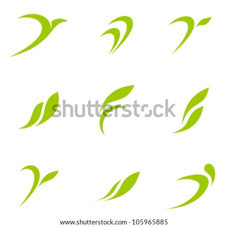 Eco icons. Ecology logo template elements. Vector. - stock vector