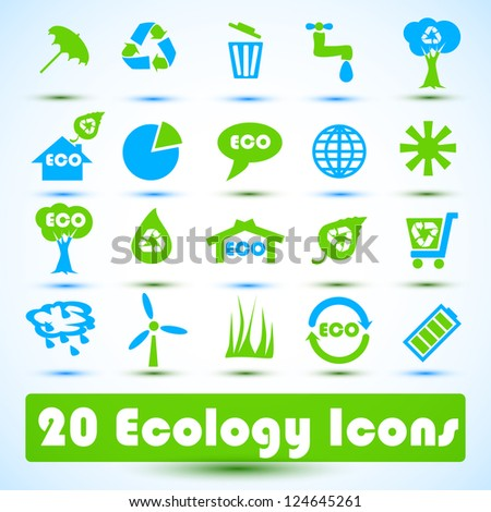 Eco icons set. Use for business