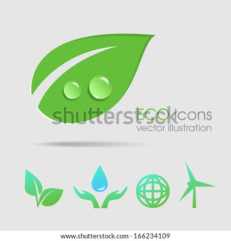 Eco icons vector collection - stock vector