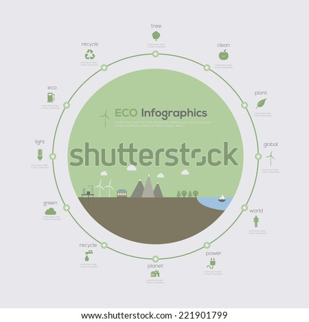 Eco infographic cicle. Vector illustration - stock vector