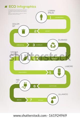 Eco infographic elements. Vector - stock vector