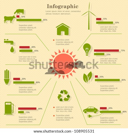Eco infographic elements. Vector set - stock vector