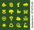 ECO. leaves environment icons set - stock vector