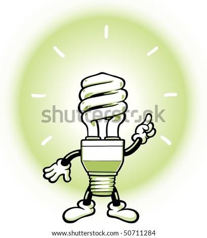 Eco Light Man - stock vector