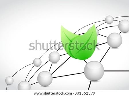 eco link sphere network connection concept illustration design graphic background - stock vector