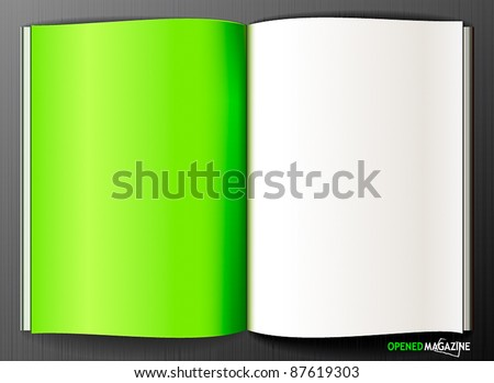 Eco magazine - stock vector