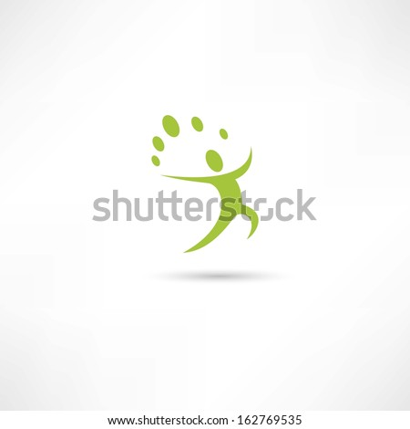 eco men icons - stock vector