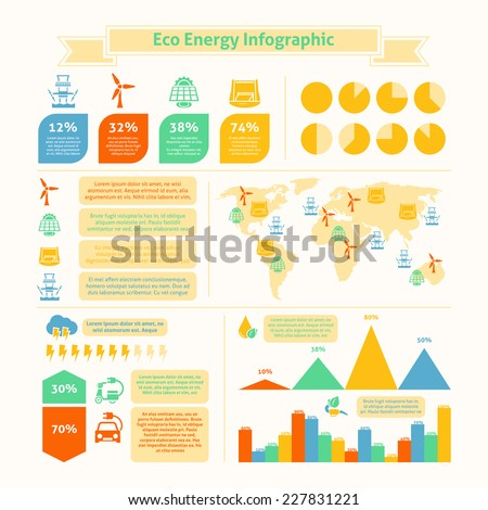 Eco natural green energy and bio fuel production growth statistics infographic presentation layout  chart  abstarct vector illustration - stock vector