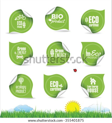 Eco organic label tag collection