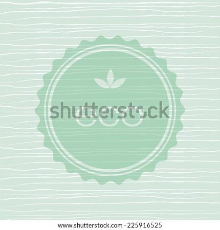 Eco organic vector Background on retro texture.  - stock vector
