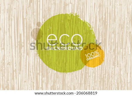 Eco Organic Vector Background With Outstanding Cane Texture - stock vector