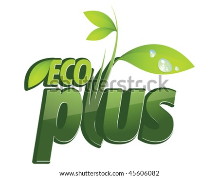 eco plus - stock vector