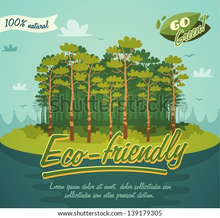 Eco poster - stock vector
