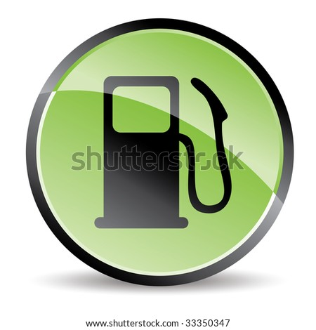 eco pump icon in green tones - stock vector