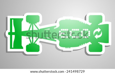 Eco racing symbo - stock vector
