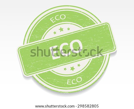 Eco rubber stamp.Eco grunge stamp.Vector illustration.