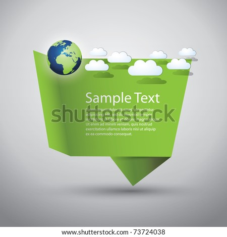 Eco Speech Bubble - stock vector