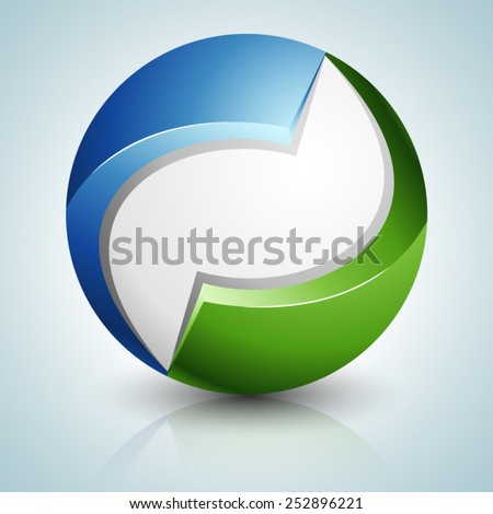 Eco Sphere sign - stock vector
